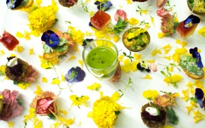 Spring inspired canapes